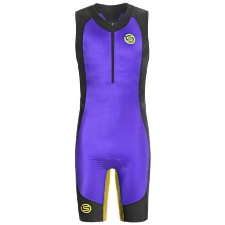 Skins Tri400 Compression Triathlon Suit - UPF 50+ (For Men) in Blue/Black