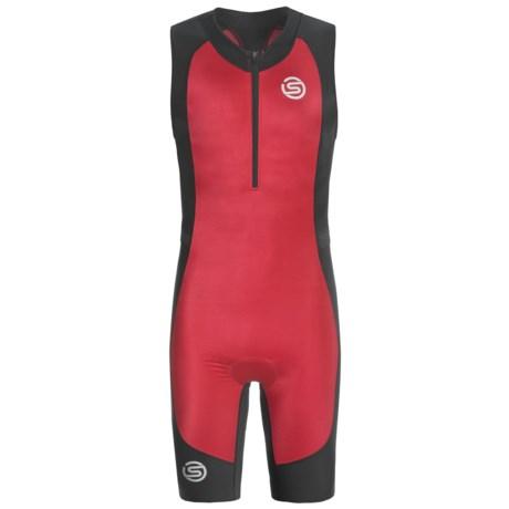 Skins Tri400 Compression Triathlon Suit - UPF 50+ (For Men) in Red/Black