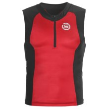 Skins Tri400 Compression Triathlon Top - UPF 50+, Sleeveless (For Men) in Red/Black - Closeouts