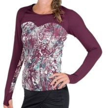 Skirt Sports Cherish Elite Shirt - Long Sleeve (For Women) in Soiree Print/Bordeaux - Closeouts