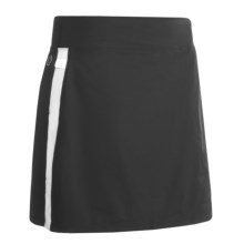 Skirt Sports Cruiser Bike Girl Cycling Skort - Bulit-In Chamois (For Women) in Black/White - Closeouts