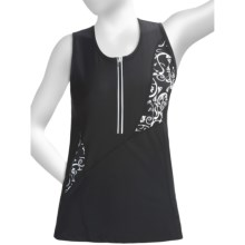 Skirt Sports Fearless Tank Top - UPF 30 (For Women) in Black/Alta Moda Print - Closeouts