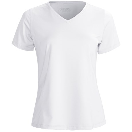 Skirt Sports Free Me T-Shirt - V-Neck, Short Sleeve (For Women) in White