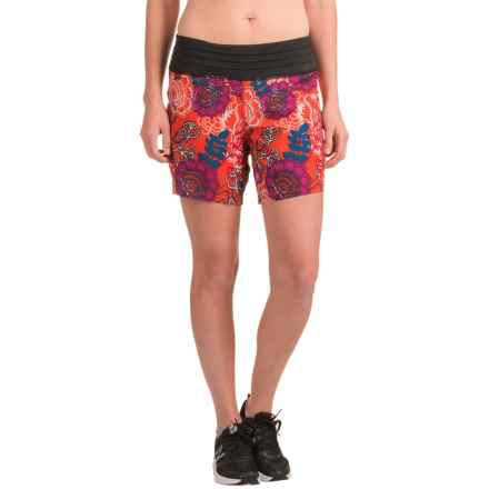 Skirt Sports Go Longer Shorts - Built-In Briefs (For Women) in Frolic Print - Closeouts