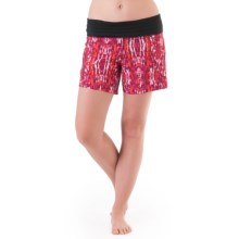 Skirt Sports Go Longer Shorts - Built-In Briefs (For Women) in Ignite Print - Closeouts