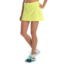 Skirt Sports Gym Girl Ultra Skirt- Built-In Shorts (For Women) in Limon Heather - Closeouts