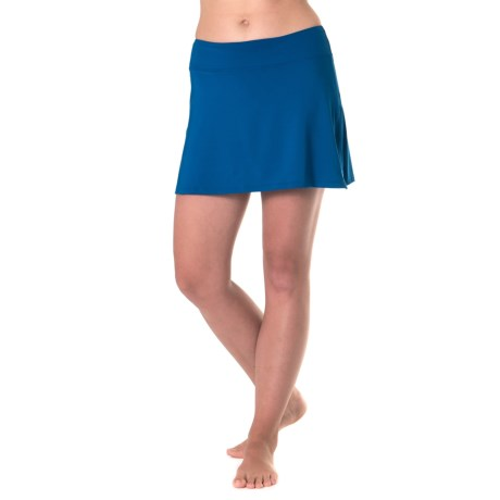 Skirt Sports Gym Girl Ultra Skort - Built-In Shorts (For Women) in Blue Voyage