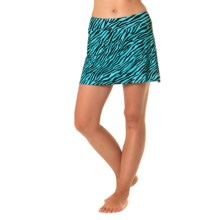 Skirt Sports Gym Girl Ultra Skort - Built-In Shorts (For Women) in Safari Print - Closeouts