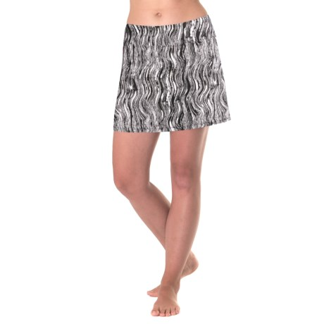 Skirt Sports Gym Girl Ultra Skort (For Women) in Black Vinyl Print