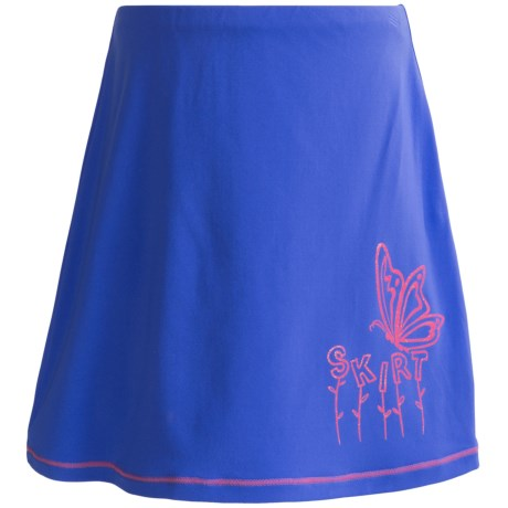 Skirt Sports Happy Kid Skirt - Built-In Shorts (For Girls) in Electric Blue