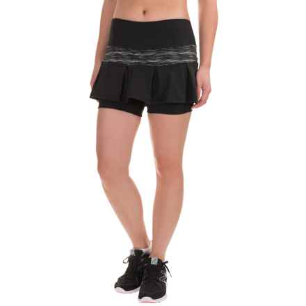Skirt Sports Lioness Skort - Built-In Shorts (For Women) in Black-Streak - Closeouts