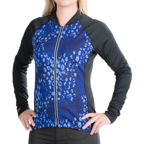 Skirt Sports Long December Cycling Jersey Shirt - Long Sleeve (For Women) in Wilder Print/Black