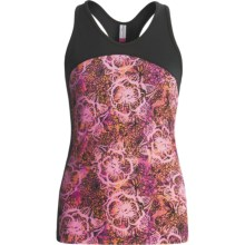 Skirt Sports Multi-Sport Tank Top - Built-In Bra, Racerback (For Women) in Pink Crush Play Print/Black - Closeouts