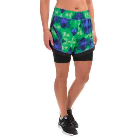 Skirt Sports Not-So-Cheeky Shorts (For Women) in Emerald City Print Black - Closeouts
