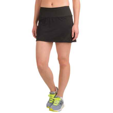 Skirt Sports Peek-A-Boo Skort - Built-In Shorts, UPF 50+ (For Women) in Black - Closeouts