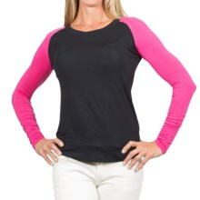 Skirt Sports Personali-Tee T-Shirt - Long Sleeve (For Women) in Black/Pink Glo - Closeouts