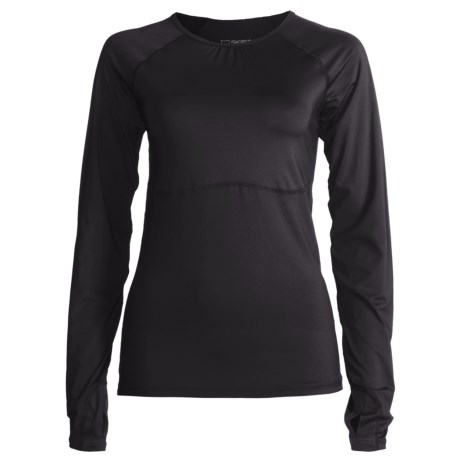 Skirt Sports Runners Dream Shirt - Long Raglan Sleeves (For Women) in Black