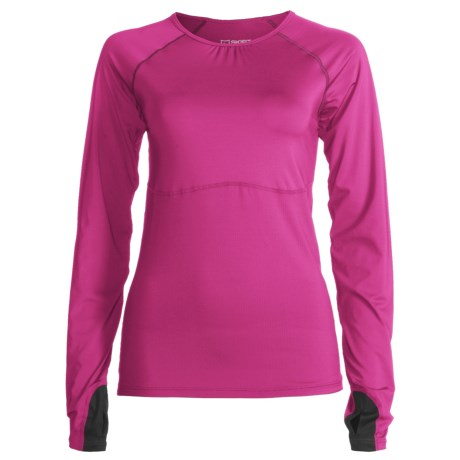 Skirt Sports Runners Dream Shirt - Long Raglan Sleeves (For Women) in Pink Crush