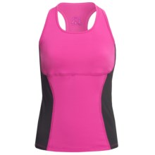 Skirt Sports Sexy Back Tank Top - Built-In Shelf Bra (For Women) in Pink Crush/Black - Closeouts