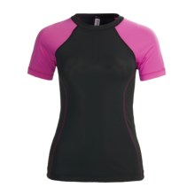 Skirt Sports Sunless T-Shirt - UPF 50, Short Sleeve (For Women) in Black/Pink Crush - Closeouts