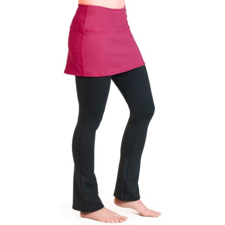 Skirt Sports Tough Girl Skirt with Attached Pants (For Women) in Sangria/Black