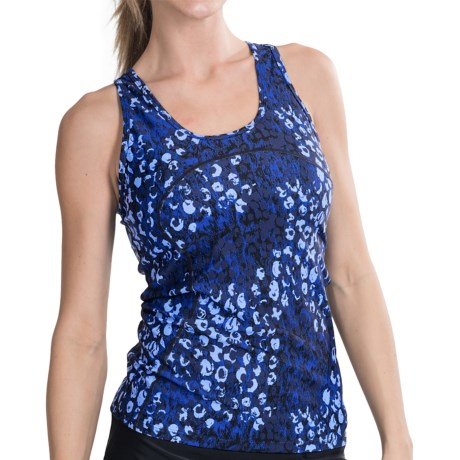 Skirt Sports Tri Tank Top - Built-In Sports Bra (For Women) in Wilder Print