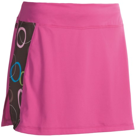 Skirt Sports Twilight Gym Girl Ultra Skort - Built-In Shorts (For Women) in Pink Crush/Hot Chocolate Print