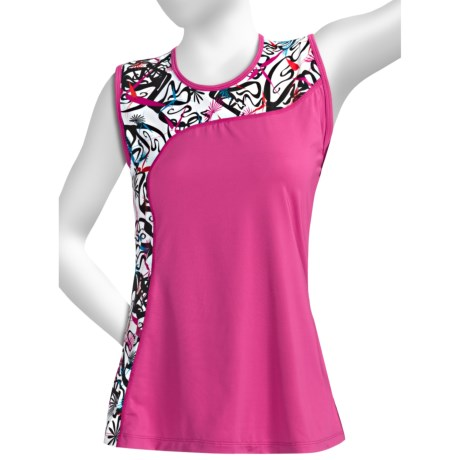 Skirt Sports Twilight Tank Top (For Women) in Pink Crush/Pow Print