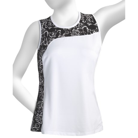 Skirt Sports Twilight Tank Top (For Women) in White/Alta Moda Print