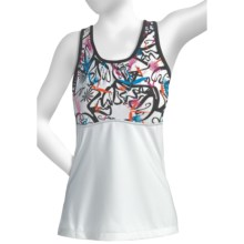 Skirt Sports Wonder Girl Tank Top (For Women) in White/Pow Print - Closeouts