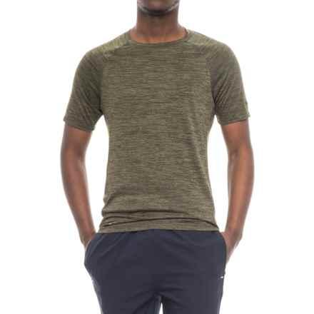 Skora Back Print T-Shirt - Short Sleeve (For Men) in Light Olive Heather - Closeouts