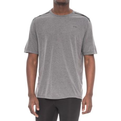 Skora Lux Heathered T-Shirt - Short Sleeve (For Men) in Obsidian