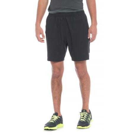 """Skora Woven Stretch Shorts - 7"""", Built-in Liner (For Men) in Black"""
