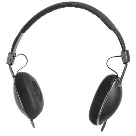 Skullcandy Navigator Wired Headphones with Mic in Black/Black - Closeouts