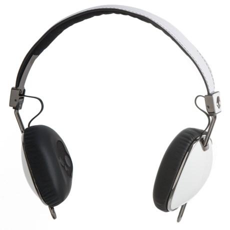 Skullcandy Navigator Wired Headphones with Mic in White/Black