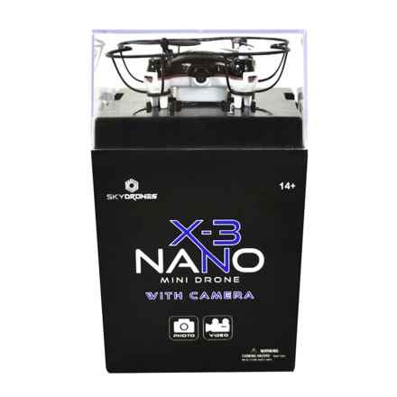 SkyDrones X-3 Nano Mini Drone in Black - Closeouts