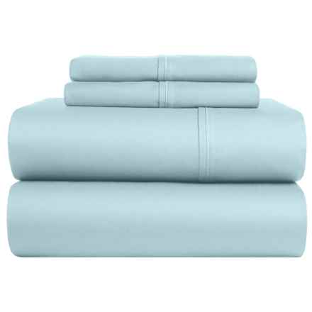 S.L. Home Fashions Crescent Sheet Set - Full, 300 TC in Light Blue - Closeouts