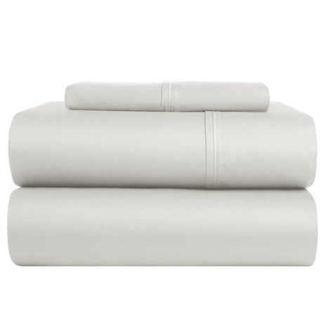 S.L. Home Fashions Crescent Sheet Set - Twin, 300 TC in Light Grey
