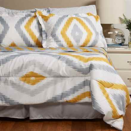 S.L. Home Fashions Hampshire Comforter Set - California King, 8-Piece in Grey/Yellow - Overstock