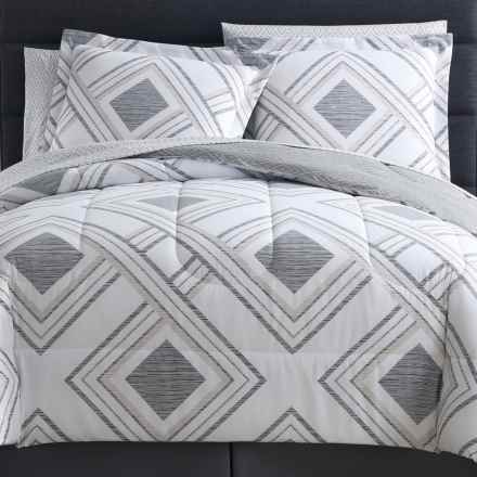 S.L. Home Fashions Harwich Comforter Set - King, 8-Piece in Stone/Grey - Overstock