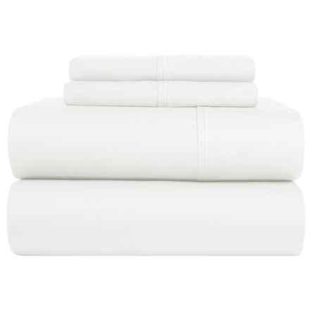 S.L. Home Fashions Ledeux Sheet Set - Full, 300 TC in White - Closeouts