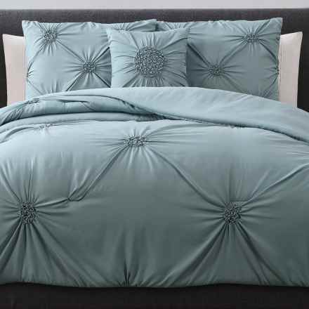 S.L. Home Fashions Paige Comforter Set - King, 4-Piece in Mineral Blue - Overstock