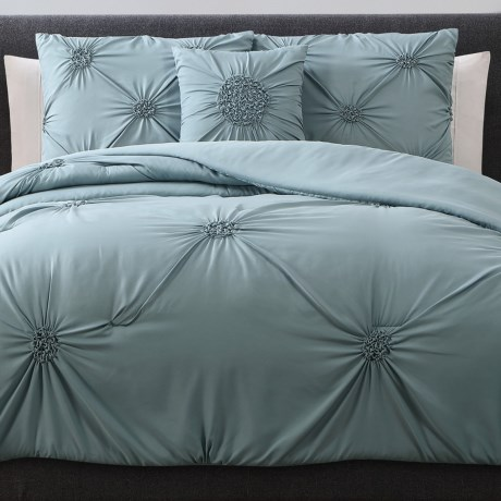 S.L. Home Fashions Paige Comforter Set - King, 4-Piece in Mineral Blue