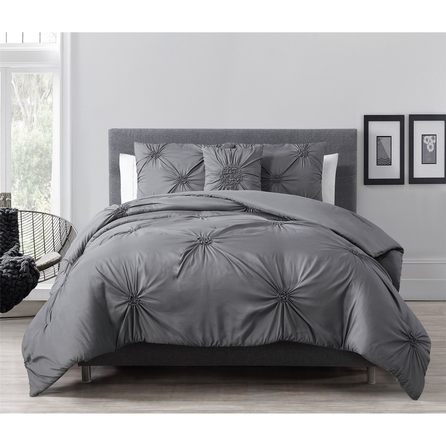 S l home fashions paige comforter set king 4 piece for Home fashion