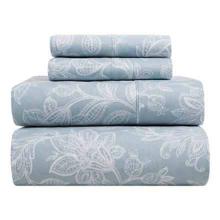 S.L. Home Fashions Skyrose Collection Sheet Set - Full in Blue - Closeouts