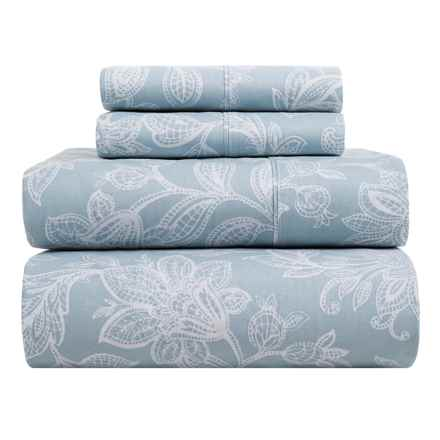 S.L. Home Fashions Skyrose Collection Sheet Set - King in Blue - Closeouts