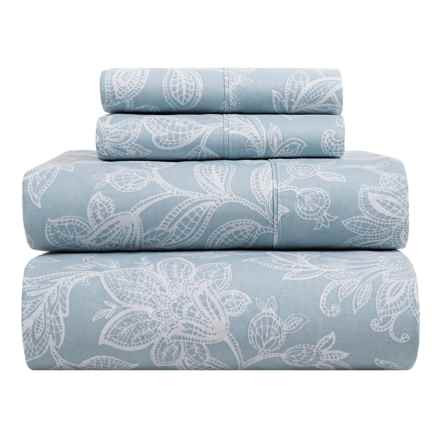 S.L. Home Fashions Skyrose Collection Sheet Set - Queen in Blue - Closeouts
