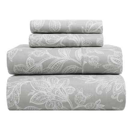 S.L. Home Fashions Skyrose Collection Sheet Set - Queen in Grey - Closeouts