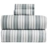 S.L. Home Fashions Vincent Stripe Flannel Sheet Set - Queen