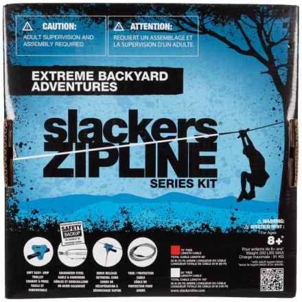Slackers Series Kit Zipline without Seat - 70' in See Photo - Closeouts
